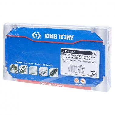 KING TONY Набор вставок (бит) 10 мм, HEX, 4-12 мм, 15 предметов