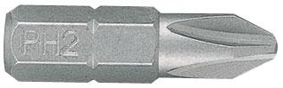 """KING TONY Вставка (бита) торцевая 1/4"""", Phillips, PH2, L = 25 мм"""