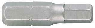 """KING TONY Вставка (бита) торцевая 1/4"""", HEX, 6 мм, L = 25 мм"""