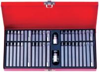 KING TONY Набор вставок (бит) 10 мм, TORX, SPLINE, HEX, 44 предмета
