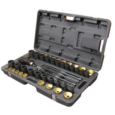 110-20049C - Набор оправок для монтажа и демонтажа сайлентблоков, гидравлический, кейс, 49 предметов