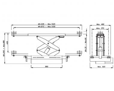496P.5(OMA542A.5) - Траверса г/п 2000 кг. с пневмоприводом