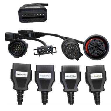 Набор кабелей для грузовых автомобилей подходящих к Autocom
