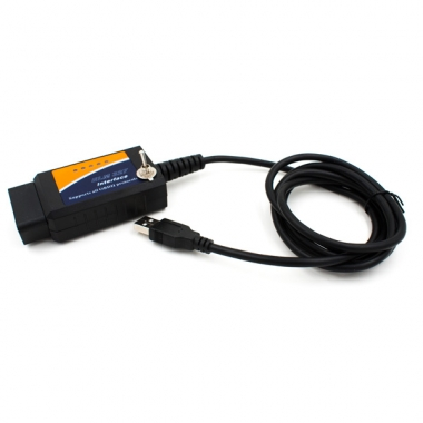 OBDII адаптер ELM327 USB с переключателем HS CAN - MS CAN