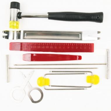 Комплект инструментов для разборки салона автомобиля - 10 предметов